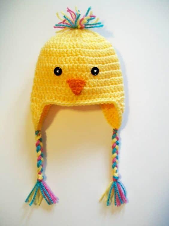 Sarı bebek şapkası