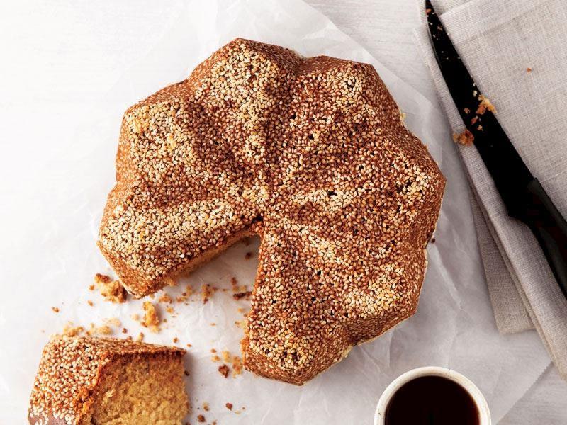 Tahin pekmezli kek yapımı