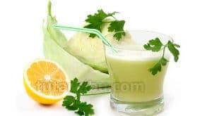 Zayıflatan lahana, limon ve maydanoz kürü