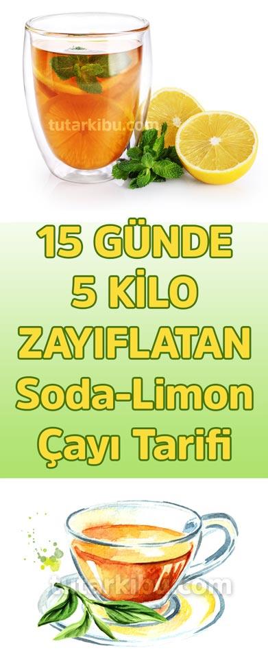 15 Günde 5 Kilo Zayıflatan Soda Limon Çayı Tarifi