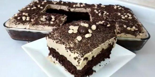 Kahve soslu çikolatalı pasta tarifi